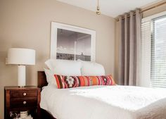 A long lumbar pillow will give the whole bed a complete look.
