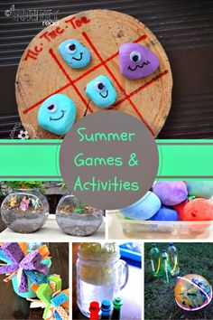 """Awesome Summer Games and activities to try!  Get rid of the """"I'm bored"""" from the kids with these activities!  #summeractivities #summer #kids"""