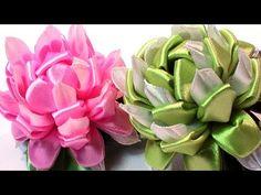 Flowers with ribbon, easy, Kanzashi flowers tutorial / Цветы канзаши из лент - YouTube