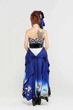 Gothic Lolita Dress, Strapless Dress Formal, Formal Dresses, Kawaii, Kimono, Band, Character Art, Musicians, Oriental