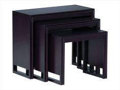Draycott Nesting Tables -- simple and chic black nesting tables for extra table space when you need it and compact, stylish storage when you don't. | cort.com