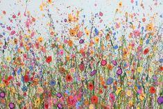 My Heart Dances is an original artwork by UK Flower Artist Yvonne Coomber using oil paint on a canvas surface. #FlowerArt #WallArt #Oilpainting #Wildforflowers