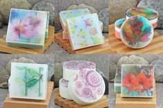Soapmaking Tutorial on How to use Water Soluble Paper to Embed in Glycerin Soap
