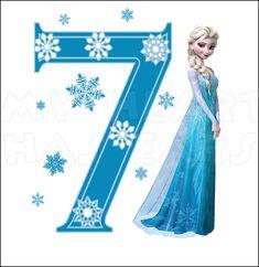 frozen birthday images Clip Art | Disney's Frozen Elsa Birthday with number 7 INSTANT DOWNLOAD digital ...