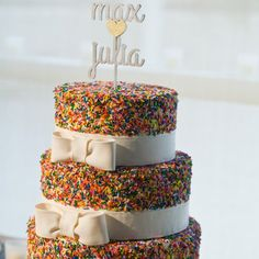 A stunning and unique wedding cake!! Nature Museum Wedding. Photos by Becky Brown Photography