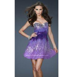$298.00 LaFemme Short Dress at http://viktoriasdresses.com/ Through John's Tailors