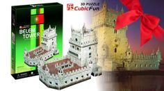 Diverte-te a Construir! Puzzle 3D da Torre de Belém! (Portes Grátis)