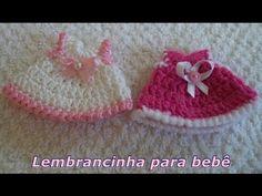 Diy - Lembrancinha em Crochê Nº 1 para bebê - Vestidinho - Graça Tristão - YouTube