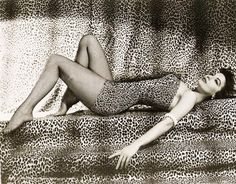 Ava Gardner in leopard print