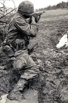 Marine with M-14 rifle. Vietnam War. #VietnamWarMemories