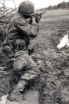 Marine with M-14 rifle. Vietnam War. #VietnamWarMemories