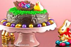 Chocolate Easter Cake #easter #chocolate