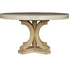 Havertys - Lakeview Round Concrete Dining Table