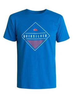 quiksilver, Classic Diamond Mine - T-Shirt, VICTORIA BLUE (bqn0)