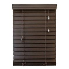 Richfield Studio 2.5 inch Faux Wood Blinds, Width: 10 inch-40.5 inch, Length: 48 inch, Brown