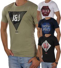 JACK & JONES Herren T-Shirt jcoVISION Tee Print Logo Rundhals Regular Fit 2889