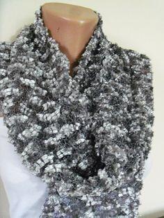 women's stylish gray silvery wonderful necklace by colourfulrose, $22.90