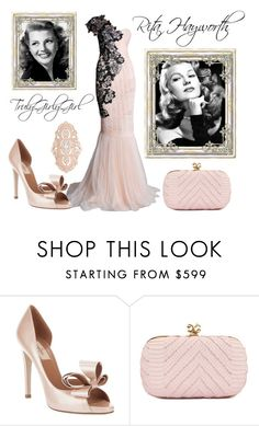 """""""Rita Hayworth"""" by trulygirlygirl ❤ liked on Polyvore featuring Marchesa, Valentino, Alexandra de Curtis and STONE"""