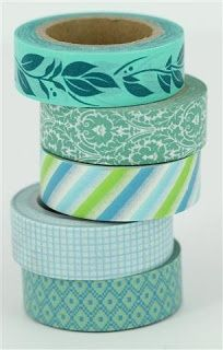 turquoise washi tape http://www.craftqueen.com.au