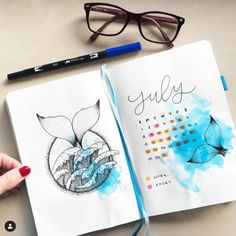30 Under the Sea Themed Bullet Journal Layout Ideas – 30 unter dem Meer-Thema Bullet Journal Layout-Ideen – Bullet Journal Spreads, Bullet Journal Cover Ideas, Bullet Journal 2019, Bullet Journal Hacks, Bullet Journal Ideas Pages, Bullet Journal Layout, Journal Covers, Bullet Journal Inspiration, Journal Pages