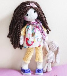 Handmade Crochet Dolls by LinaMarieDolls on Etsy    -------- tags: rag doll, bunny, crochet doll, handmade, soft doll, plush doll, tejido, muñeca tejida
