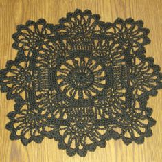 13 inch square crochet doily pattern