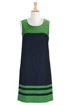 eShakti Colorblock poplin shift dress-possible Emma Peel costume