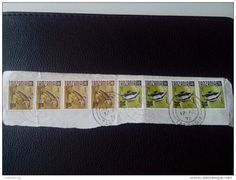 RARE 1972 TANZANIA 10/20 CENT PACKAGE-LETTRE RECOMMANDEE 8 STAMPS ON PAPER COVER USED 4 SEAL NICE - Kenya (1963-...)
