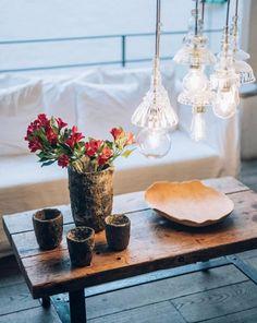 Vases, Merci Paris, Lampe Retro, Factory Lighting, B & B, Interior Inspiration, Sweet Home, Kitchen Appliances, Table Decorations