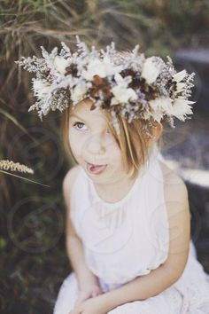 Photo by Amber Schoniwitz - wearing, floral, girl, crown