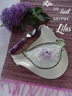 Riz au lait saveur Lilas / La cuisine de quat'sous Quat, Saveur, Spoon Rest, Rice Puddings, Strawberries, Kitchens