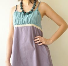 Spiral PurpleBlue Cotton Dress by aftershowershop on Etsy, $38.50