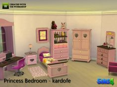 The Sims Resource: Princess bedroom by Kardofe • Sims 4 Downloads