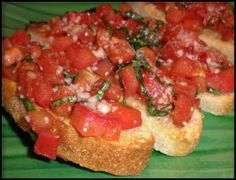 Tomato & Basil Bruschetta - I subbed the fresh basil for 1 tspn of dried basil.  Delicious Topping for a salad as well!
