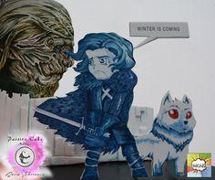 GAME OF THRONES CAKE / TARTA JUEGO DE TRONOS. JON NIEVE - JON SNOW