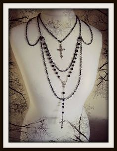 Salvation Gothic Rosary necklace