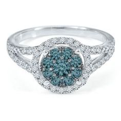 1 ct. tw. Blue & White Diamond Ring in 10K Gold - Shop All Clearance - Clearance - Helzberg Diamonds