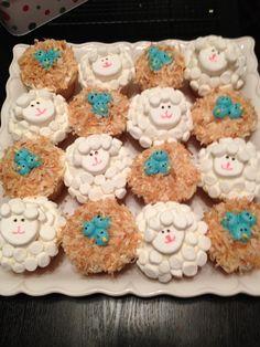 Baby shower cupcakes courtesy of Martha Stewarts recipes!