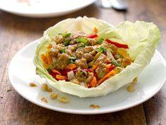 Chicken Recipe : Light Thai Chicken Lettuce Wraps