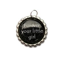 Forever Bottlecap Pendant  Your Little Girl by ChelBosBoutique, $5.00
