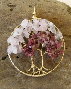 Twin Tree of Life Pendant Two Gold Filled Wire by BellaDivaBeads