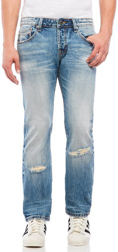 cult of individuality Revival Rebel Straight Distressed Jeans