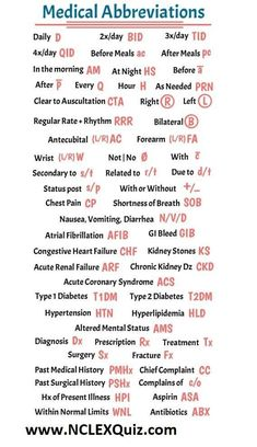 Nursing Medical Abbreviations, Acronyms & Definitions Nursing Medical Abbreviations, Acronyms & Definitions Medical Abbreviations for medical professionals nurses physicians and students. Save your wrist and some time with these abbreviations. Nursing School Notes, Nursing Schools, Medical School, Nursing School Humor, Dental Hygiene School, High School Biology, Pharmacy School, Funny Nursing, Pharmacology Nursing