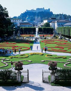 Mirabell Gardens in Salzburg, Austria