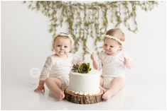 Twins Cake Smash First Birthday pictures are fun to capture. - Twins Cake Smash First Birthday pictures are fun to capture. They say the best things come in p - Twin Cake Smash, Twins Cake, Cake Smash Outfit, 1st Birthday Cake Smash, Twin First Birthday, Twin Birthday Pictures, Twin Pictures, Outdoor Cake Smash, Cake Smash Pictures