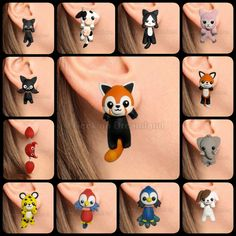 Handmade earrings in polymer clay, clinging of your ears. Its totally handmade, nothing is painted. You will receive the one in the picture, ready to ship. Any question feel free to ask.