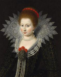 Charlotte Marguerite de Montmorency, Princess of Conde (1594–1650) ? This portrait is perhaps the Princess of Conde.