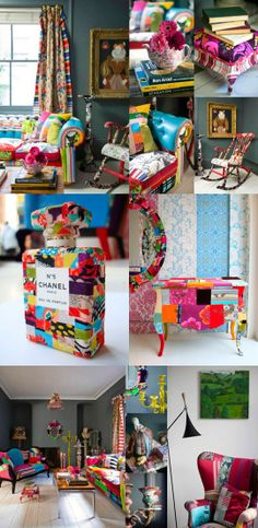 taking it over the top!  full patchwork room!
