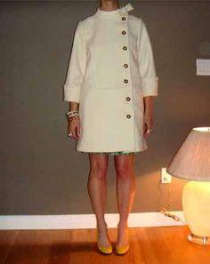 winter white vintage coat