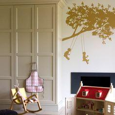 Neutral Bedroom Scheme for Small Children | Children's Bedroom Tree Mural | Children's Bedroom Wall Sticker | Children's Bedroom Decal